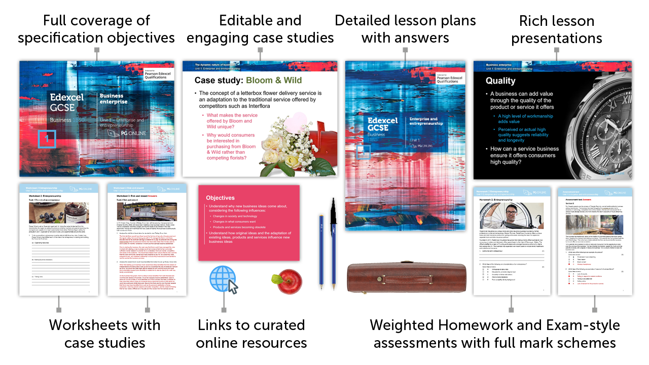 Resources > Business > Gcse Edexcel > Unit 1 Enterprise and