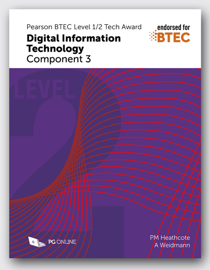 Pearson BTEC Level 1/2 Tech Award in DIT: Component 3